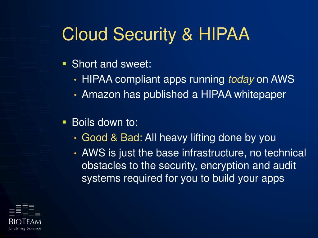 Cloud Security & HIPAA