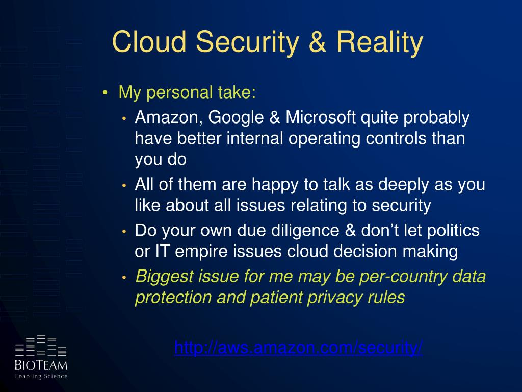 Cloud Security & Reality