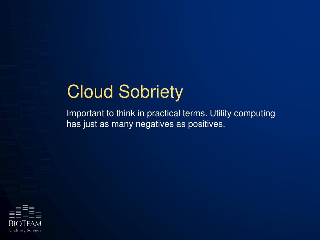 Cloud Sobriety