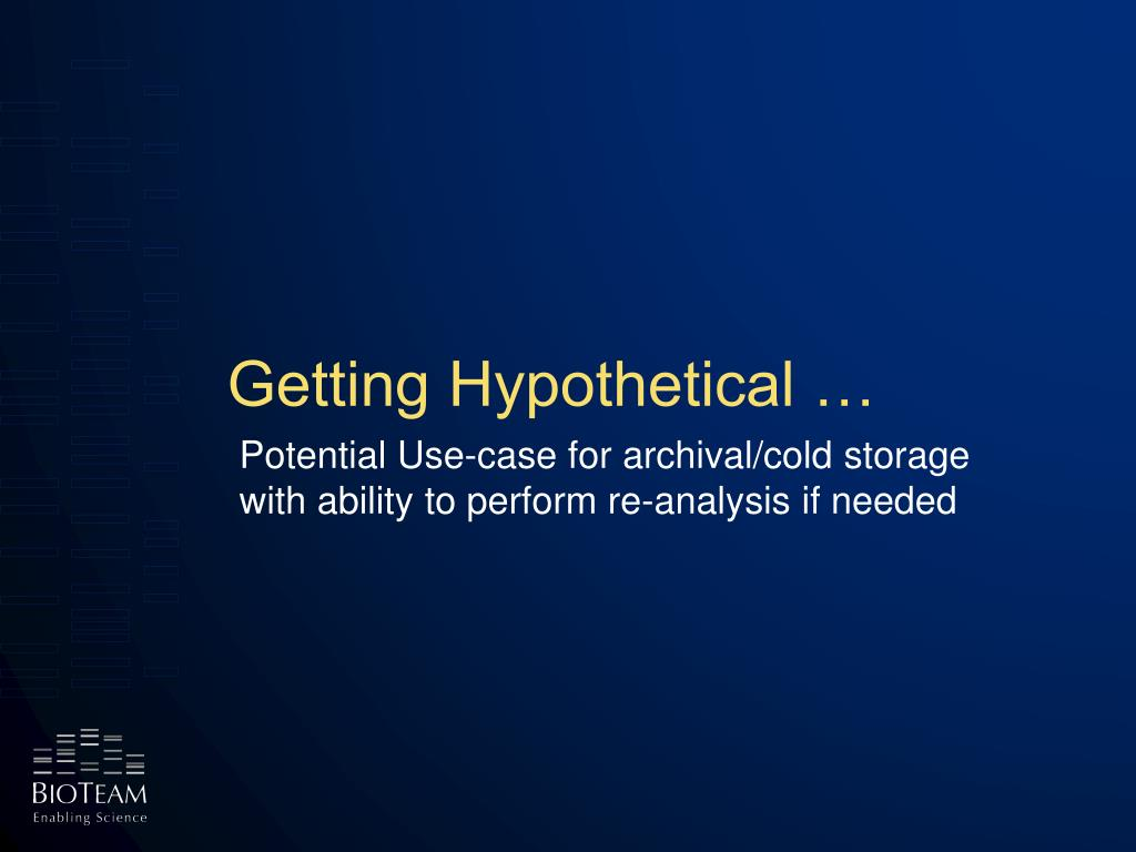 Getting Hypothetical …