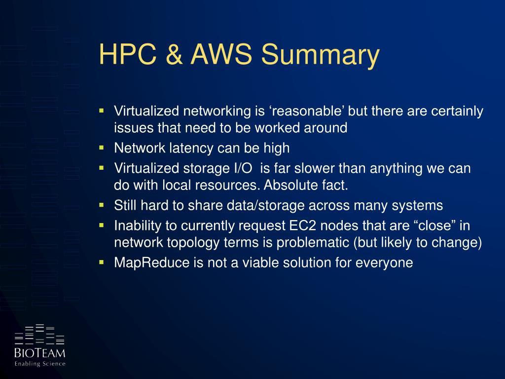 HPC & AWS Summary