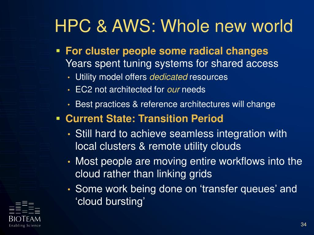 HPC & AWS: Whole new world