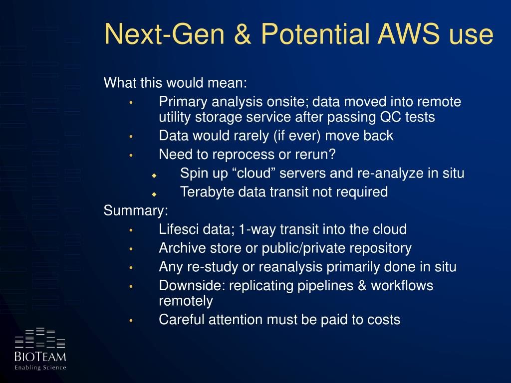 Next-Gen & Potential AWS use