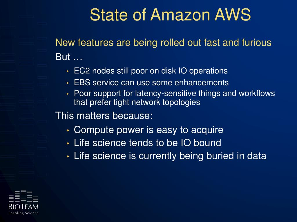 State of Amazon AWS