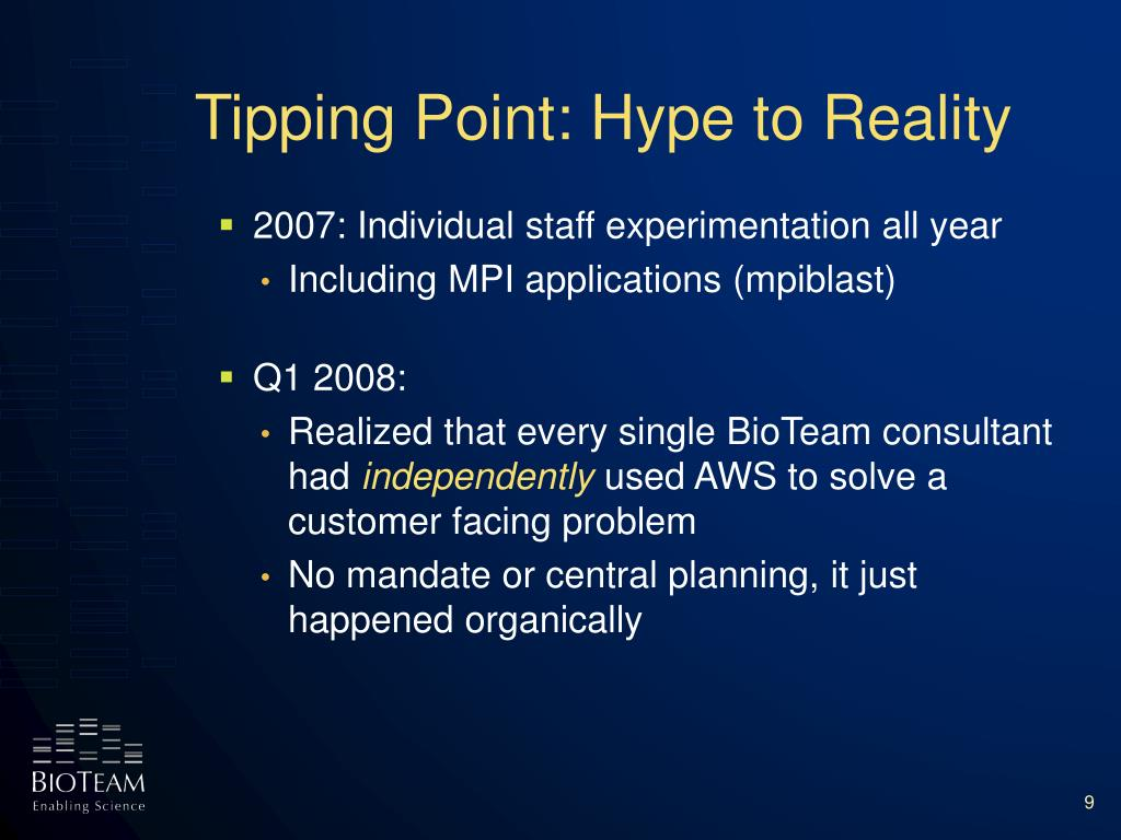 Tipping Point: Hype to Reality