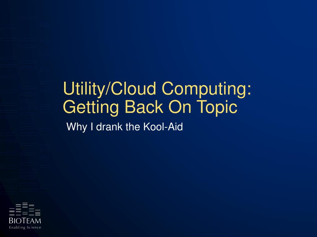 Utility/Cloud Computing: