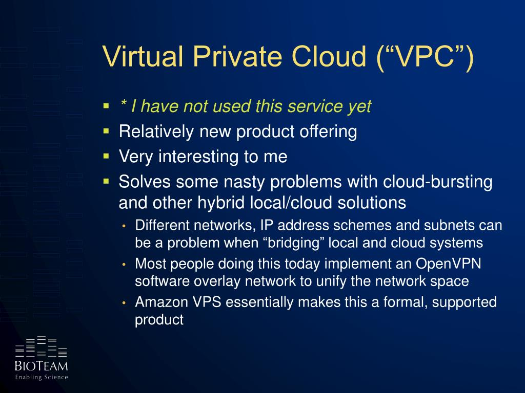 "Virtual Private Cloud (""VPC"")"