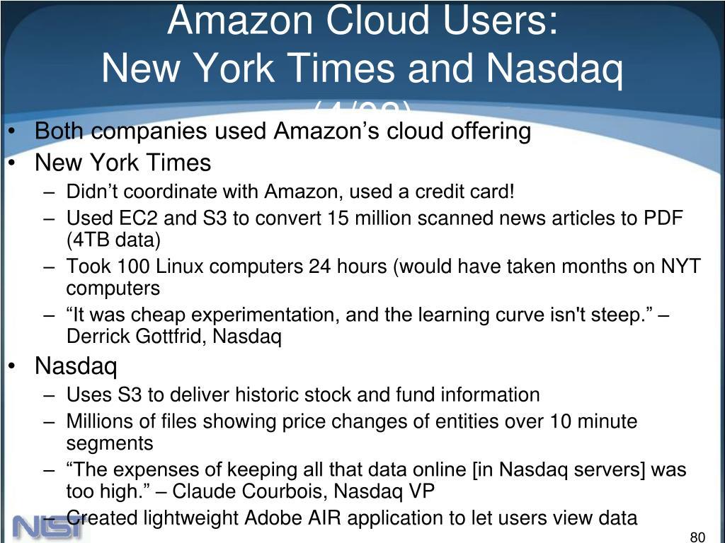 Amazon Cloud Users: