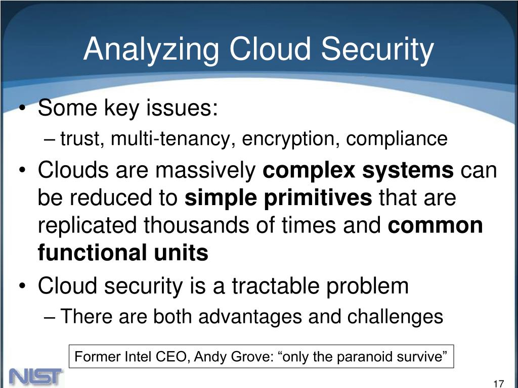 Analyzing Cloud Security