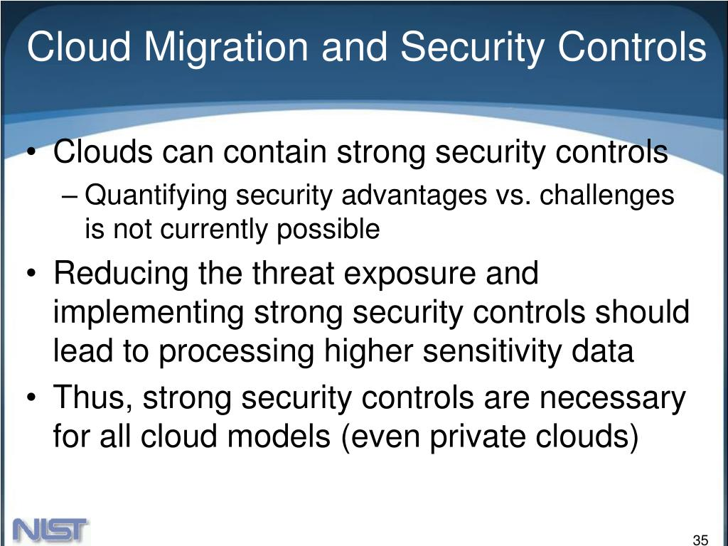 Cloud Migration and Security Controls