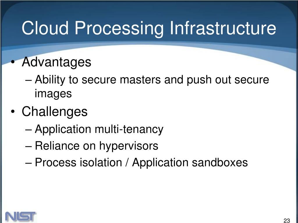 Cloud Processing Infrastructure