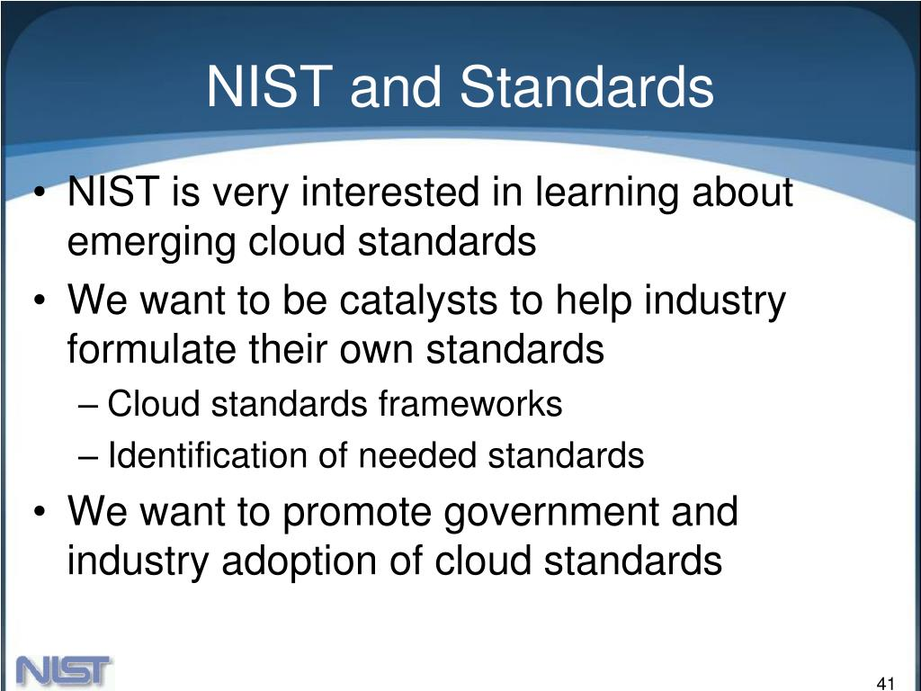 NIST and Standards