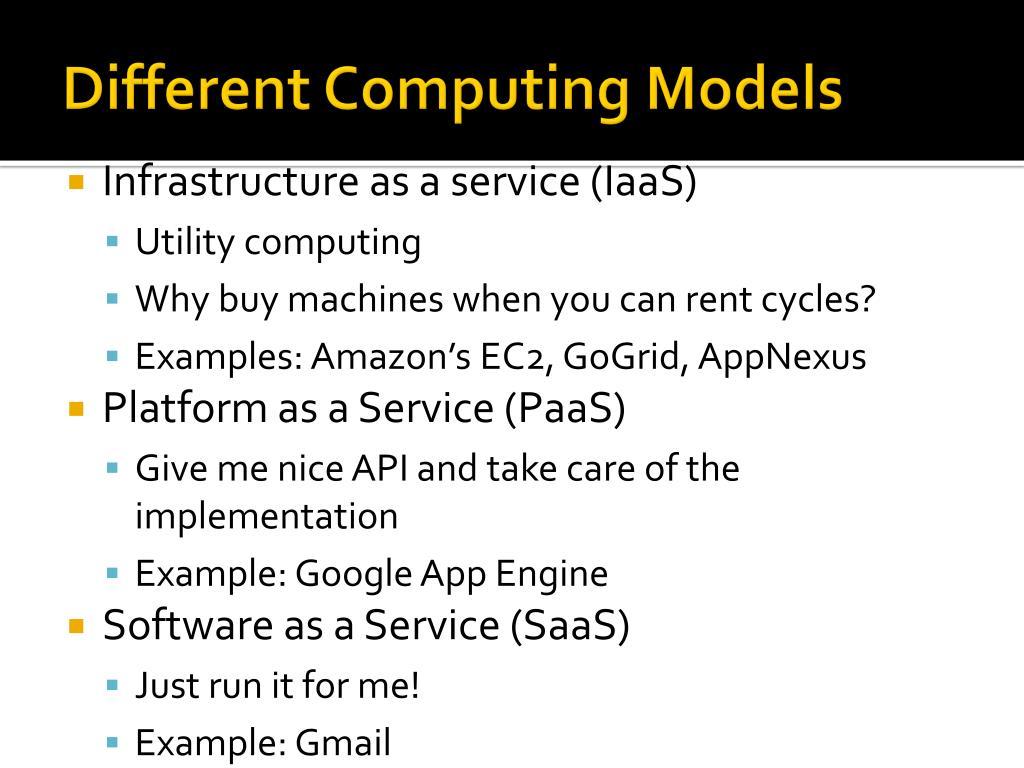 Different Computing Models