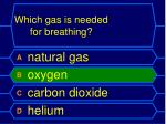 which gas is needed for breathing1