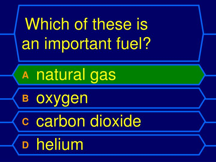 Which of these is an important fuel?