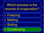 which process is the reverse of evaporation1