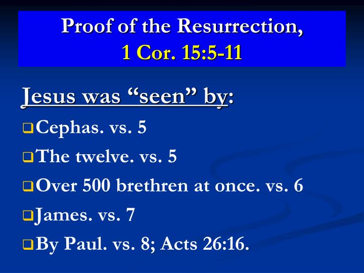 Proof of the Resurrection,
