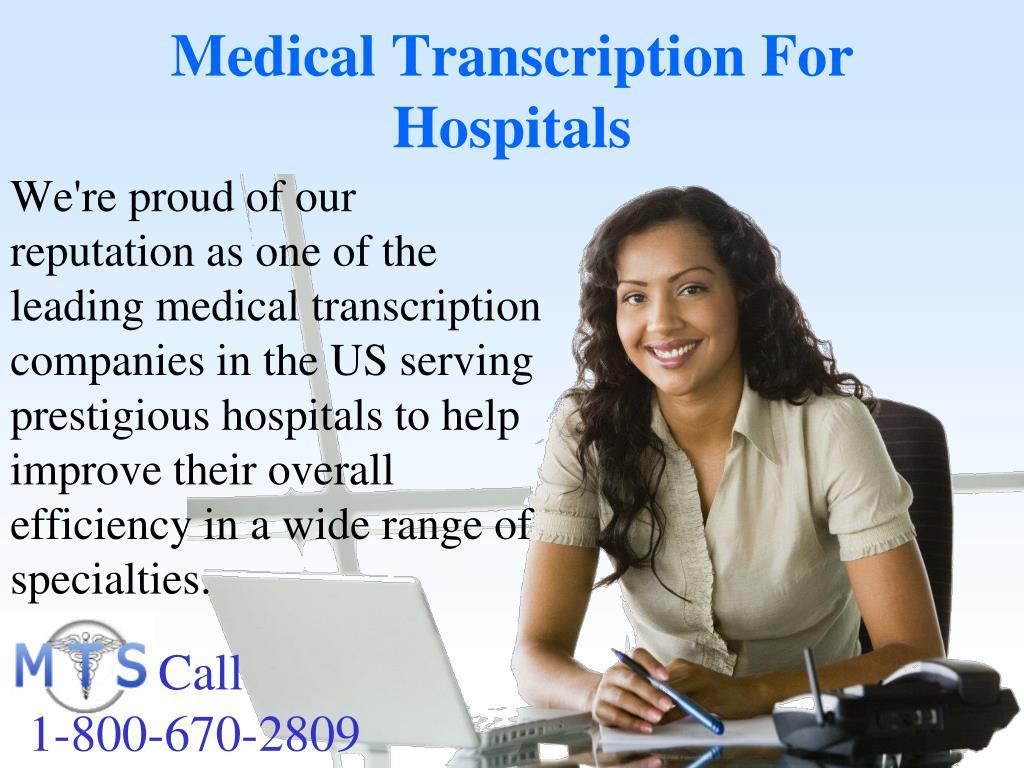 Medical Transcription For Hospitals