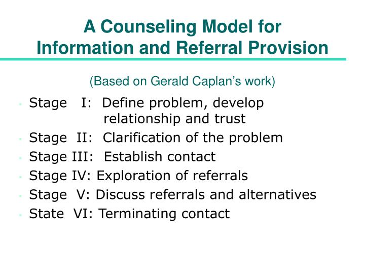 A Counseling Model for