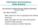 information and assistance skills building