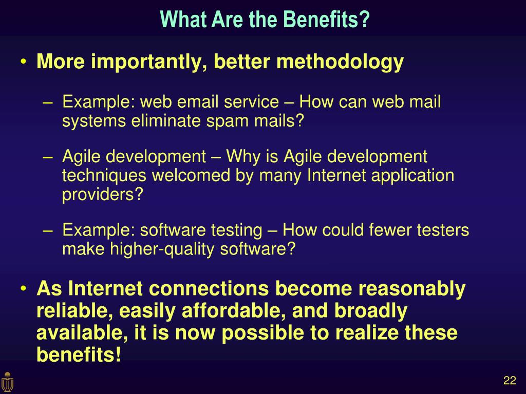 More importantly, better methodology