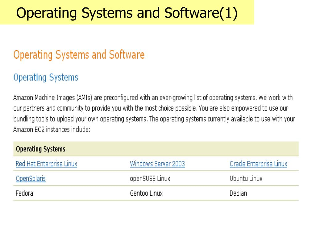 Operating Systems and Software(1)