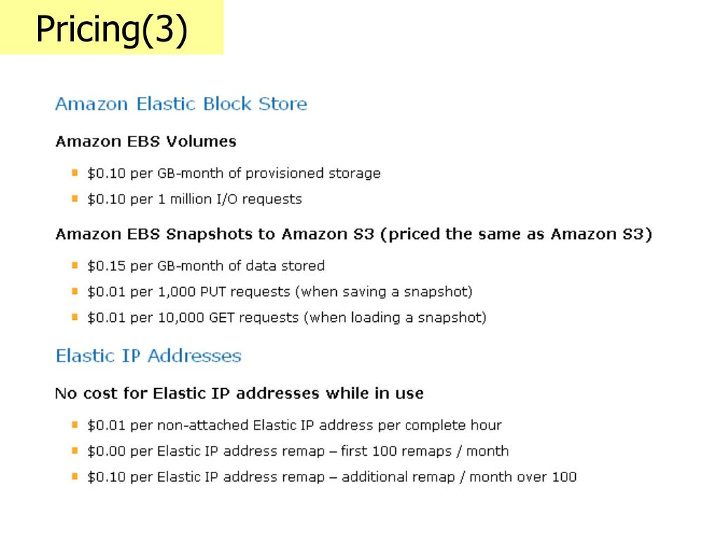 Pricing(3)