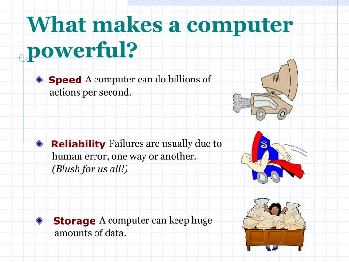 What makes a computer powerful?