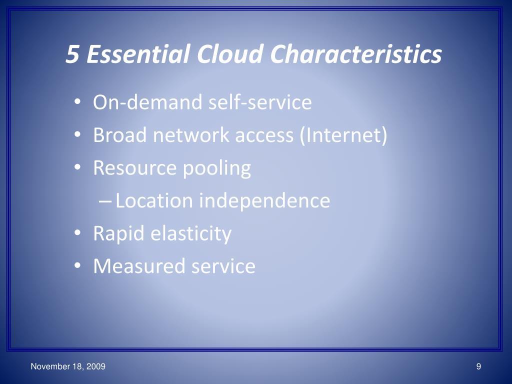 5 Essential Cloud Characteristics