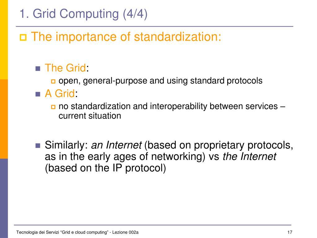 1. Grid Computing (4/4)