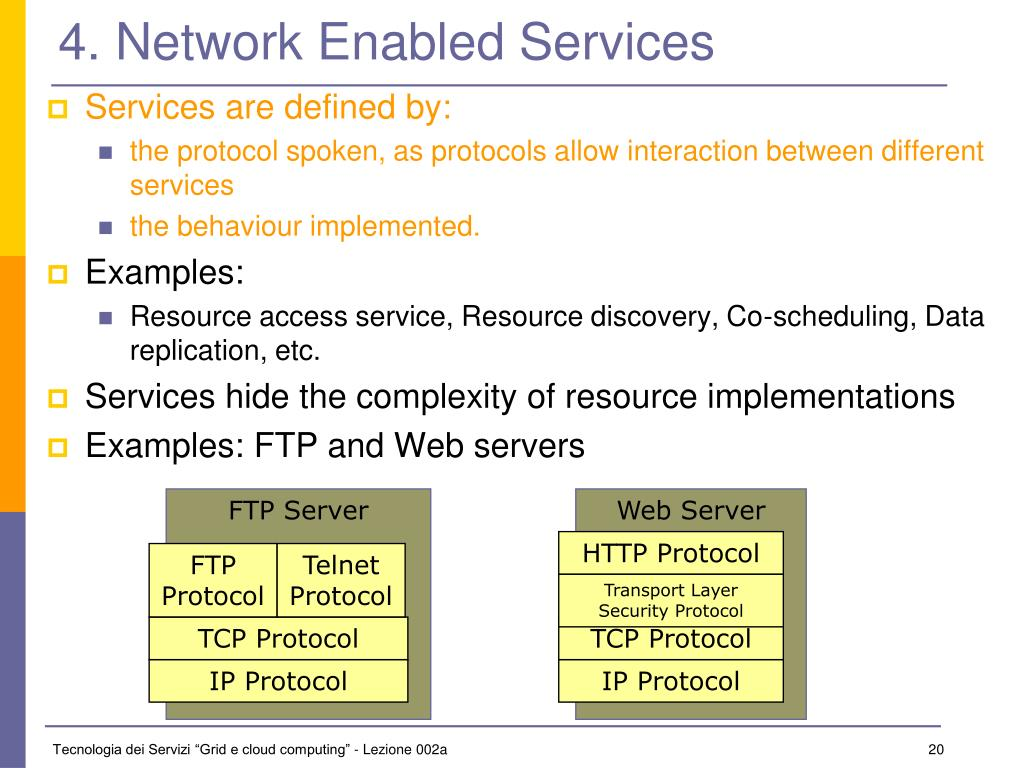 4. Network Enabled Services