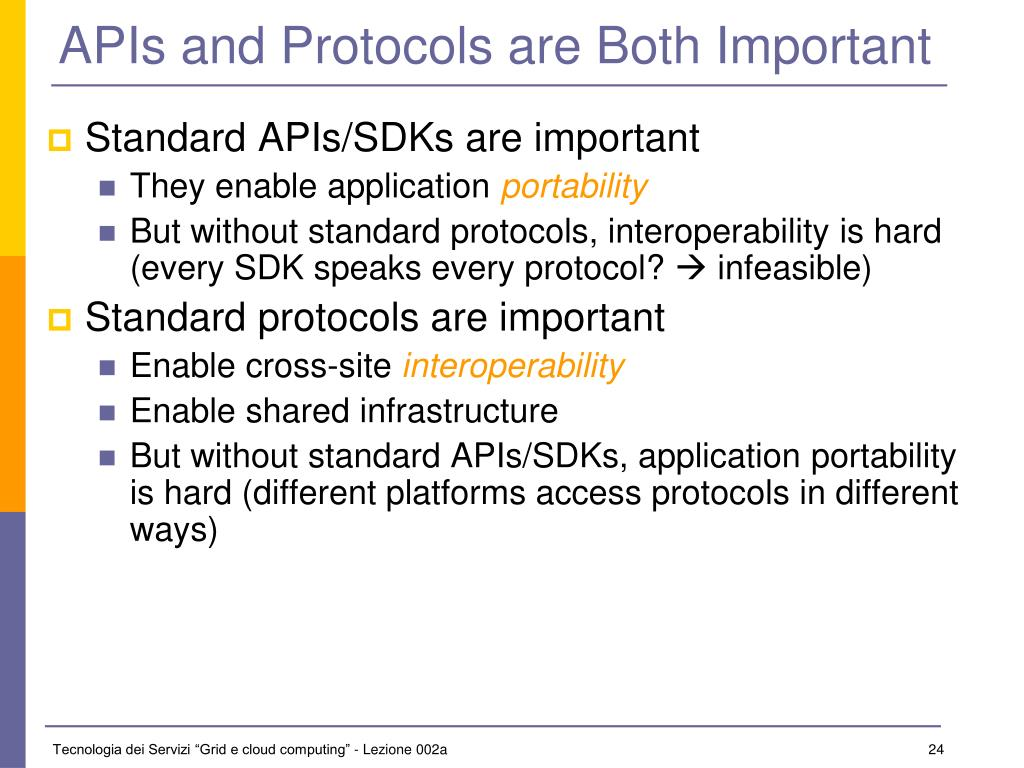 APIs and Protocols are Both Important