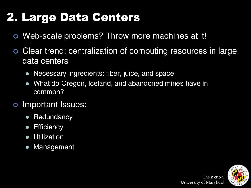 2. Large Data Centers