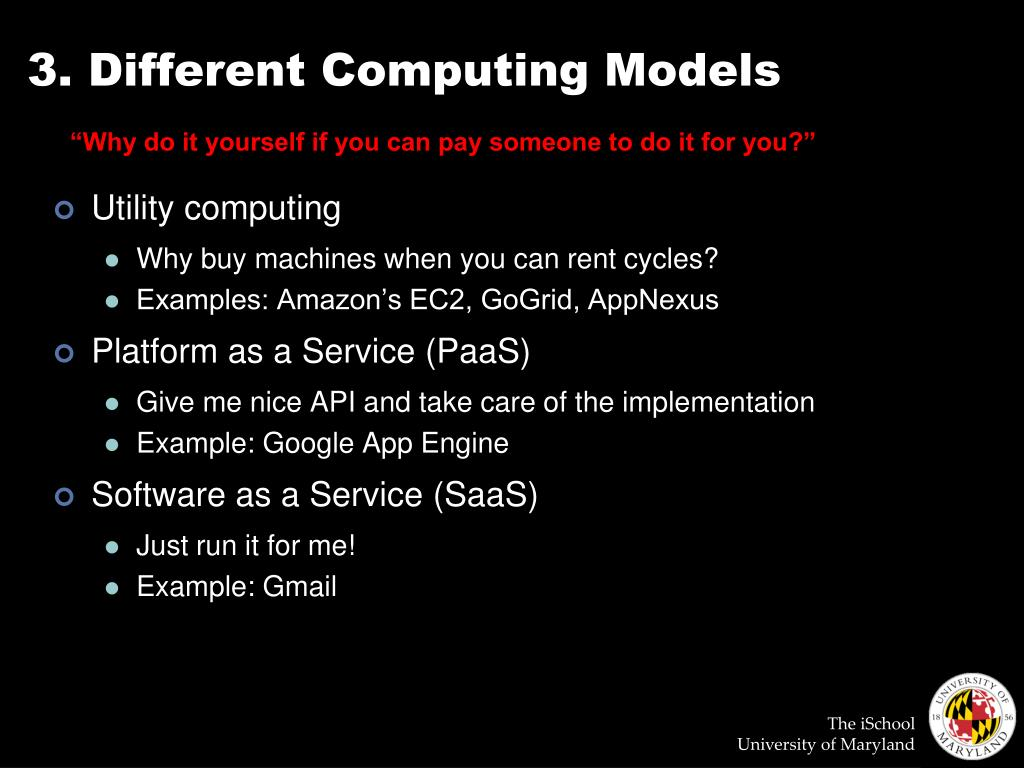3. Different Computing Models