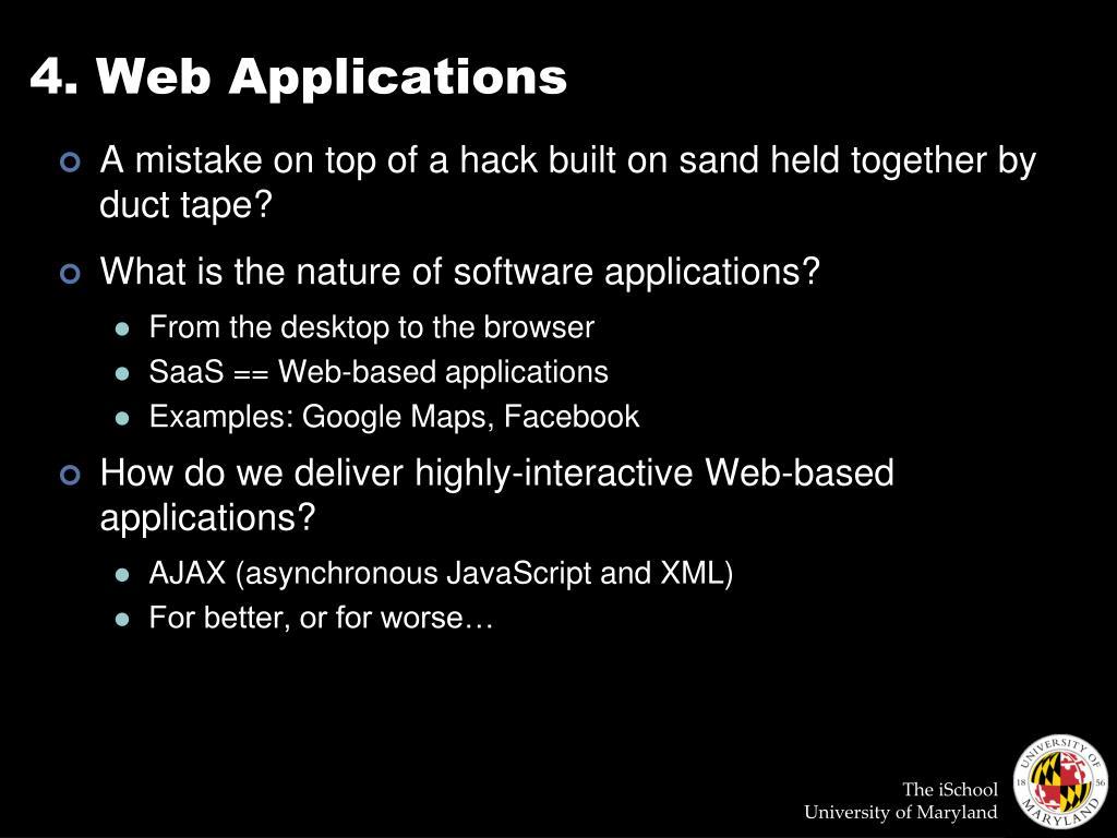4. Web Applications