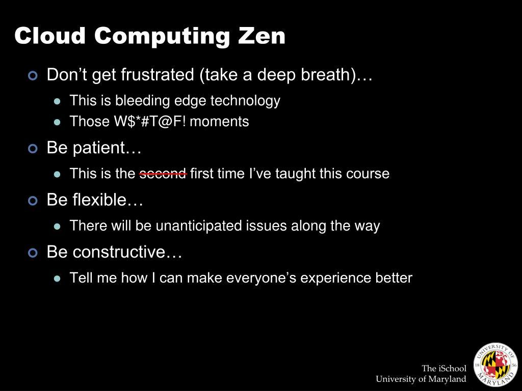 Cloud Computing Zen