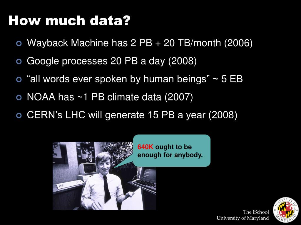 How much data?