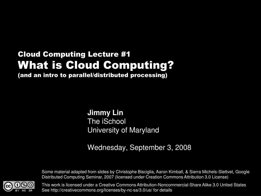 Cloud Computing Lecture #1