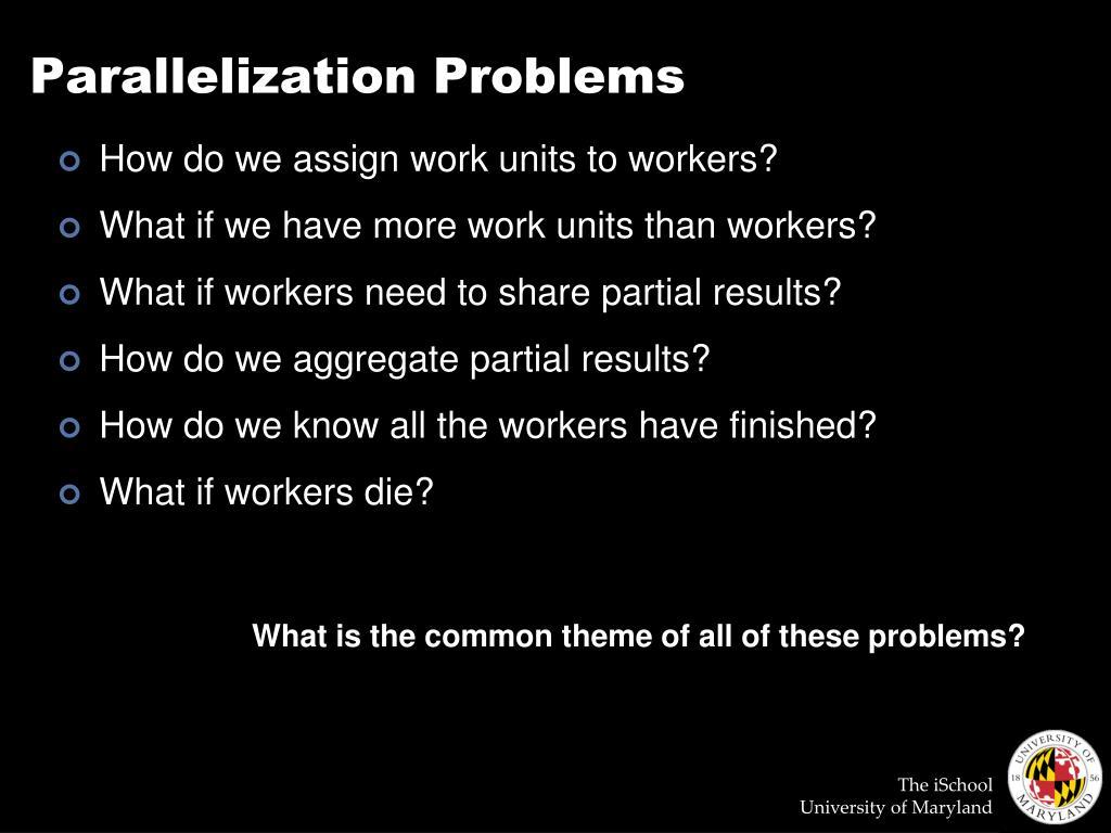 Parallelization Problems