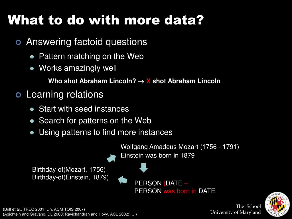 What to do with more data?