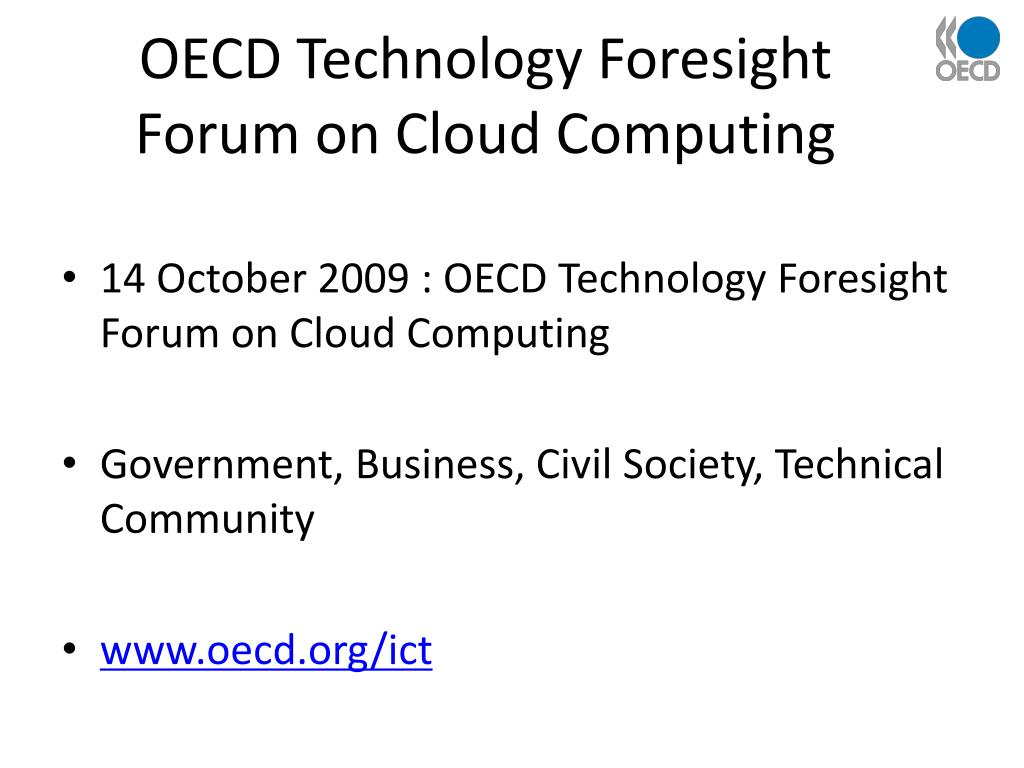 OECD Technology Foresight Forum on Cloud Computing
