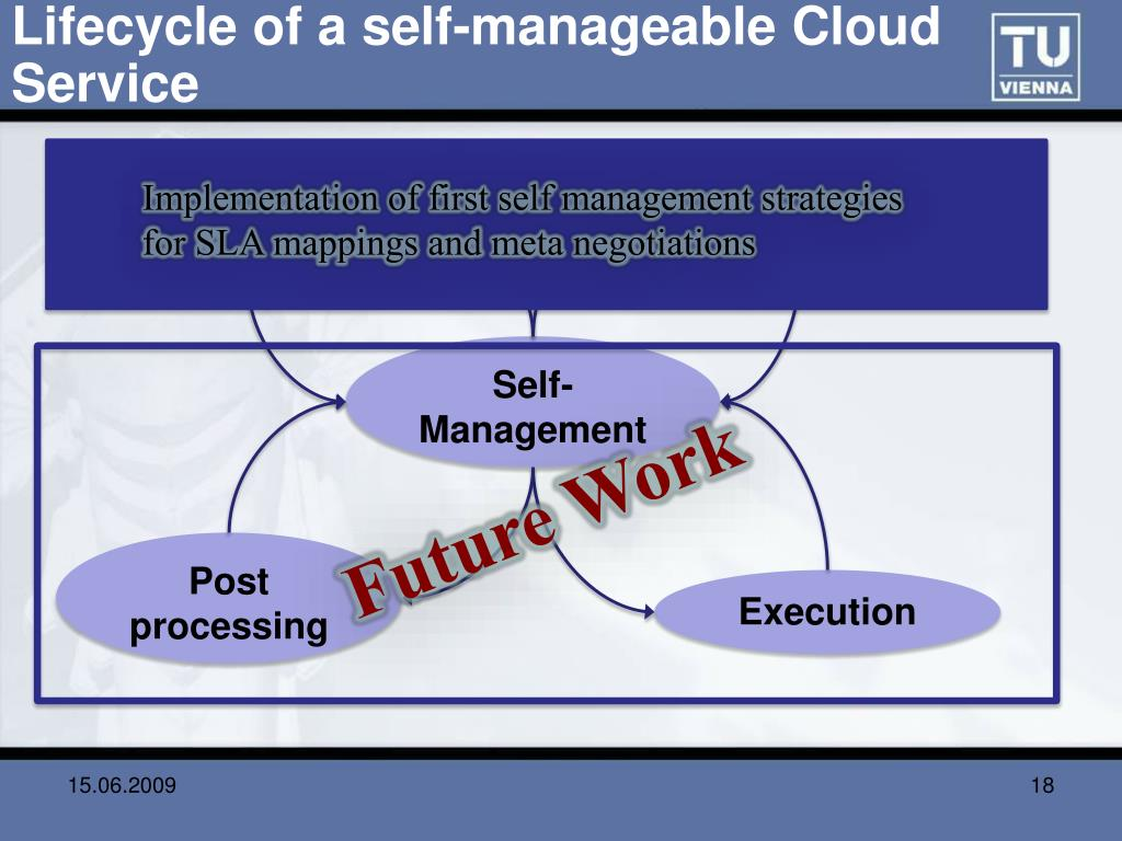 Lifecycle of a self-manageable Cloud Service