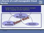 lifecycle of a self manageable cloud service18