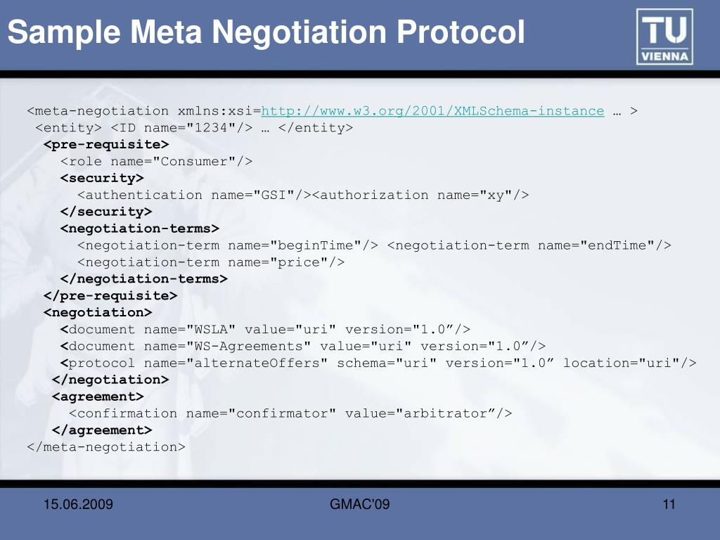 Sample Meta Negotiation Protocol