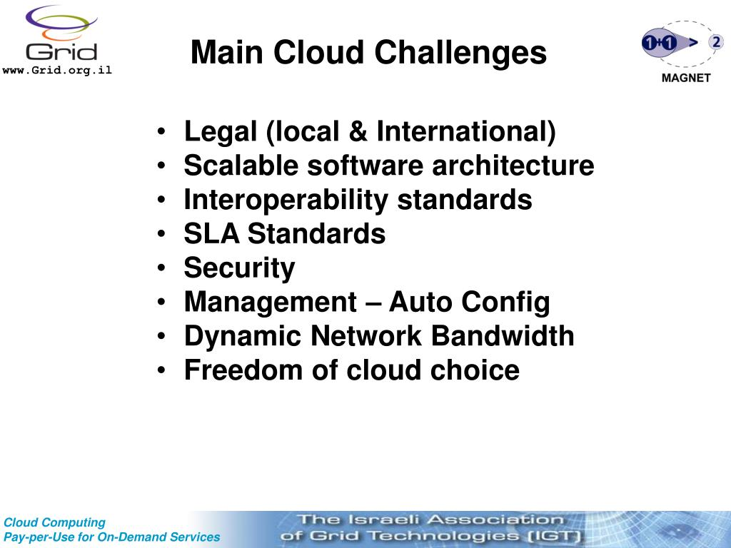 Main Cloud Challenges