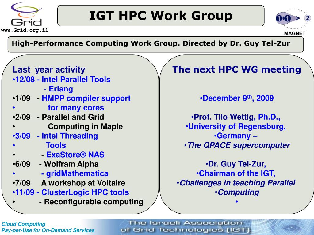 IGT HPC Work Group