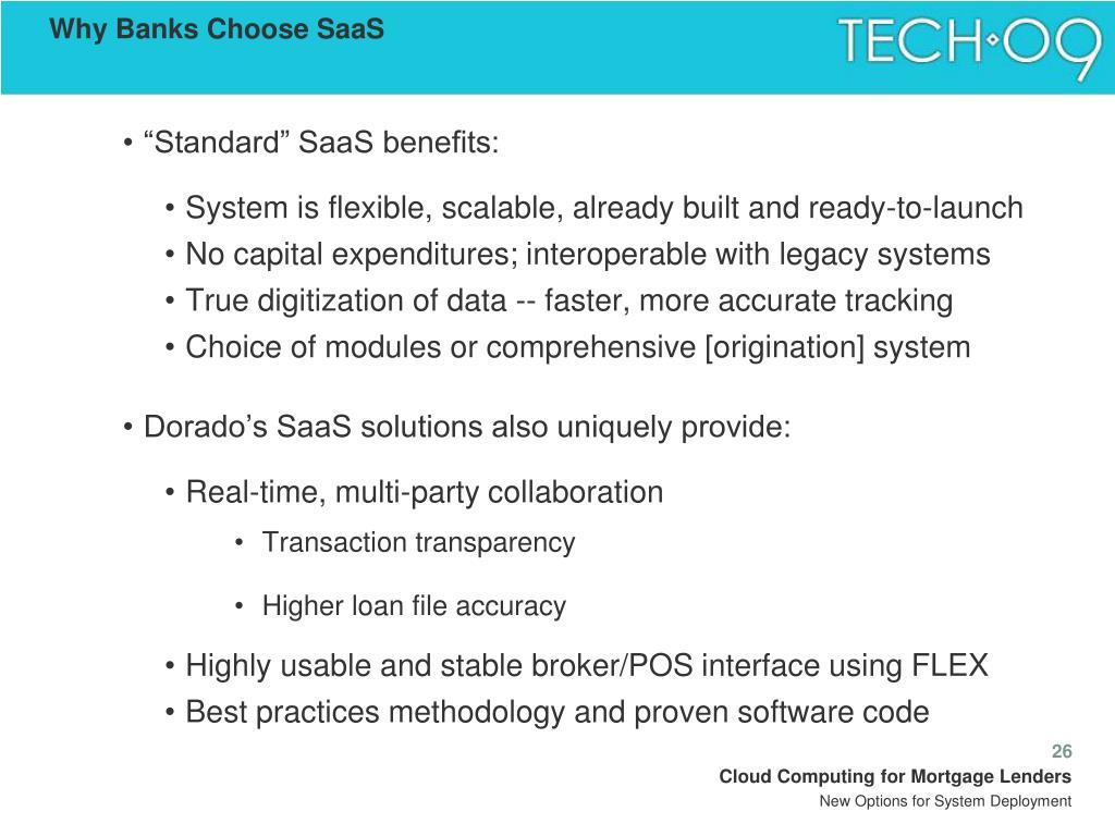 Why Banks Choose SaaS