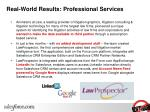 real world results professional services