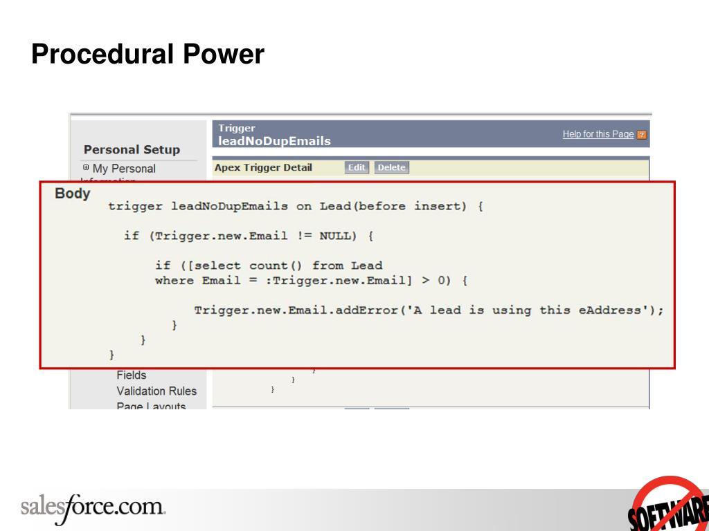 Procedural Power