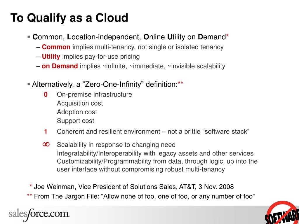 To Qualify as a Cloud